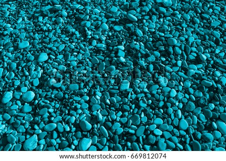 Turquoise Background Little Stones Texture Stock Photo