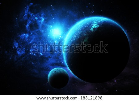 Aqua Planet - Elements of this Image Furnished By NASA - stock photo