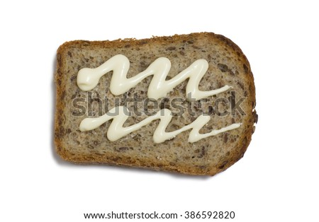 aquarius.Edible signs of the zodiac sandwiches on white background