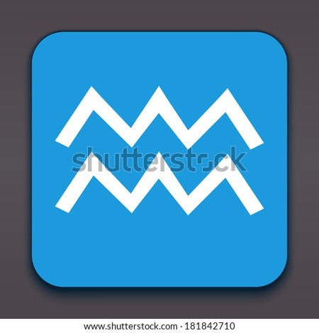 Aquarius. Horoscope signs/symbols. Other signs are represented in the my portfolio. - stock photo