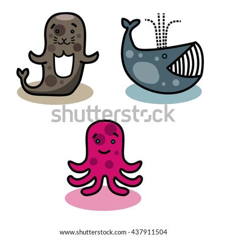 Aquatic animals - stock photo