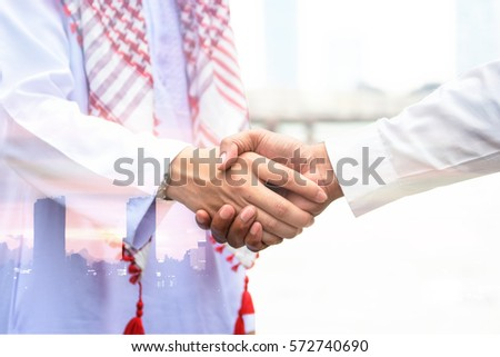 Watercolor Culture Holding Hands In Arab