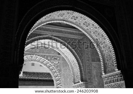 arab arches - stock photo