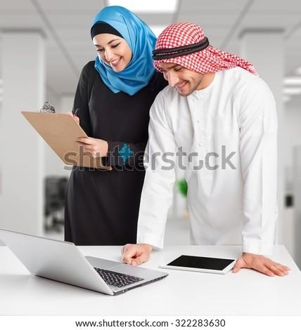 Arab business. - stock photo