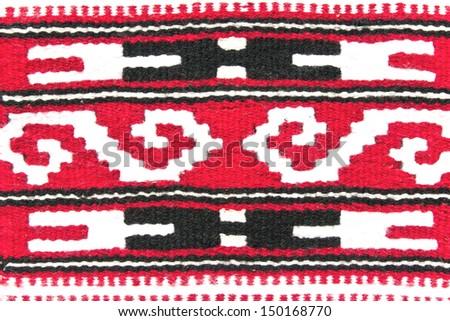 Arab carpet texture as background - stock photo