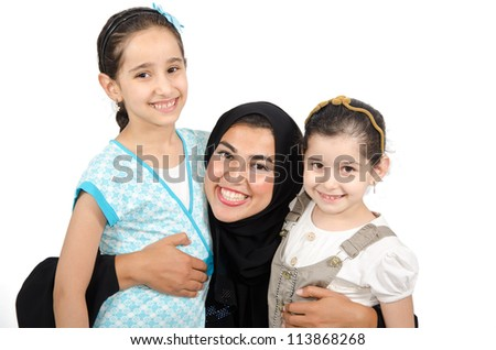 Arab Families - stock photo