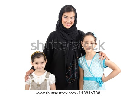 Arab Family - stock photo