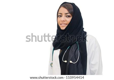 Arab Female Doctor - stock photo