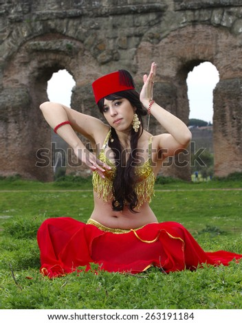 arab girl - stock photo