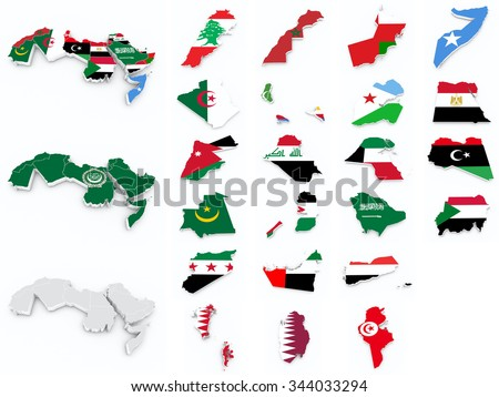 arab league flags compilation