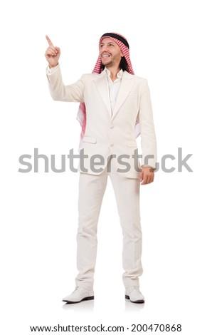 Arab man in diversity concept - stock photo