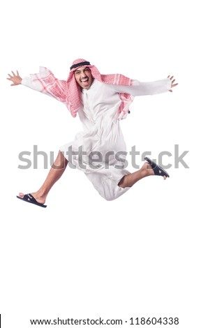 Arab man isolated on the white - stock photo