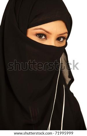 Arab Muslim Girl - stock photo