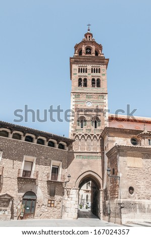 Arab tower in Teruel Spain