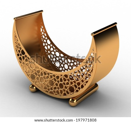 Arabesque Moon Basket - stock photo