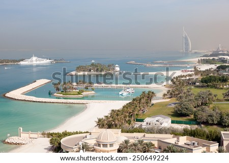 Arabian Gulf coast in Dubai, United Arab Emirates - stock photo