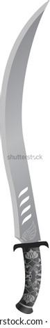 arabian sword. raster variant - stock photo