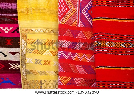 Arabic colorful  blanket - stock photo