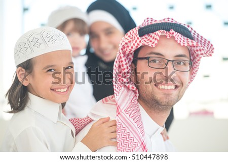 Arabic family at home