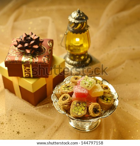Arabic festive set up - stock photo