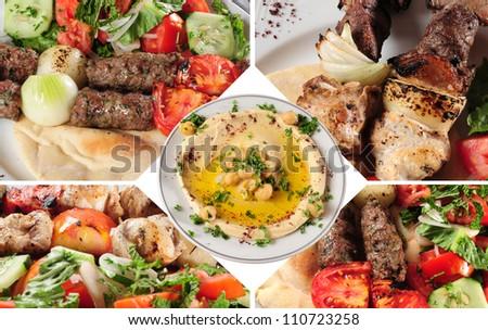 Arabic food. - stock photo