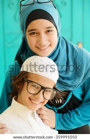 Arabic girl - stock photo