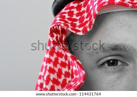 Arabic man portrait - stock photo