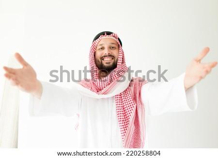 Arabic man posing - stock photo