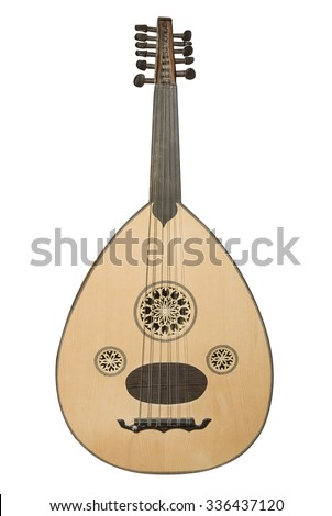 Arabic musical instrument isolated on white - stock photo