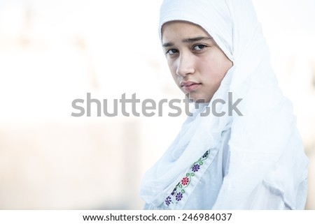Arabic Muslim Middle Eastern girl