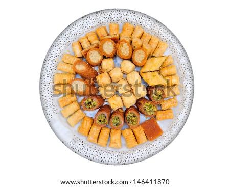 Arabic sweets. - stock photo