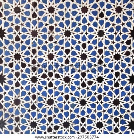 Arabic tile background - stock photo