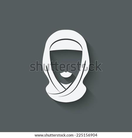 Arabic woman avatar -  illustration - stock photo