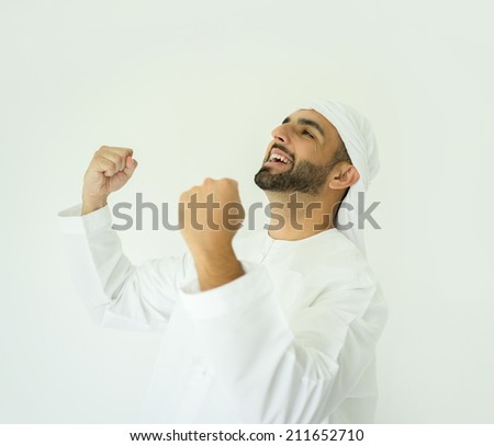 Arabic young man posing - stock photo