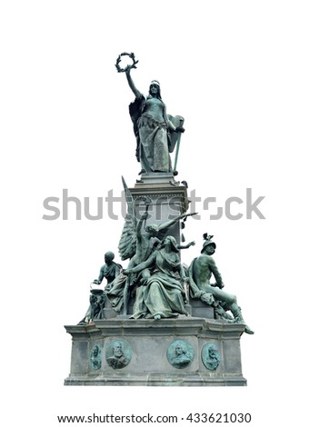 Arad city Romania The Monument of Liberty hungarian landmark isolated
