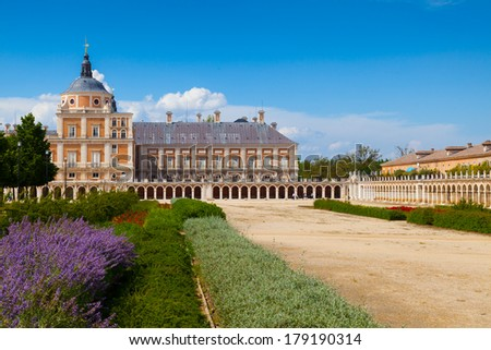 Aranjuez Site Views in Madrid city, Spain - stock photo