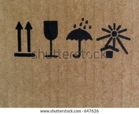 Arbitrary signs and symbols - stock photo