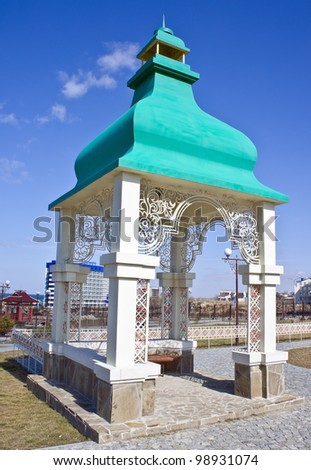 arbour on a white background - stock photo