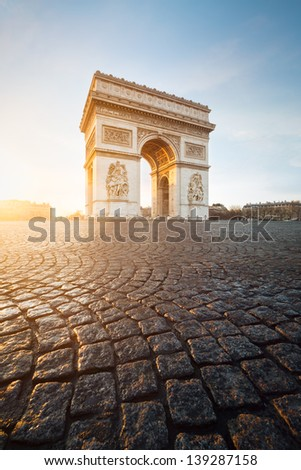Arc de Triomphe, Paris - stock photo