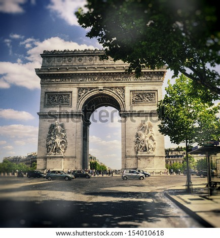 Arc de Triomphe - Paris, France - stock photo