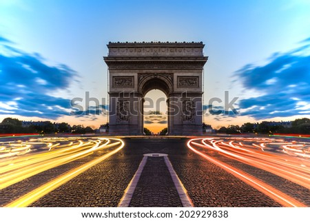 Arc de Triomphe Paris , France