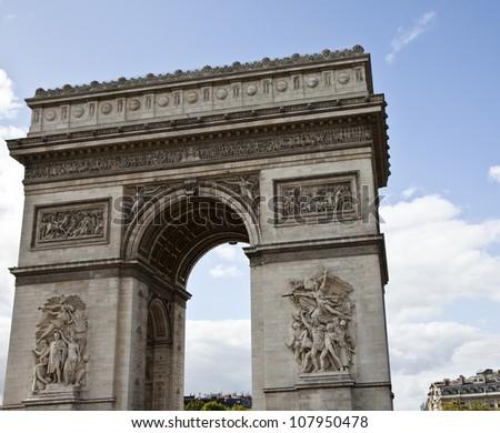 Arc de Triomphe, Paris, France, Triumphal Arch - stock photo