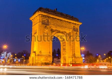 Arc de Triumph, Bucharest Romania - stock photo