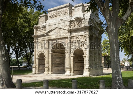 Arc de triumph in Orange city, France