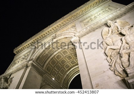 Arc de Triumph in Paris, France