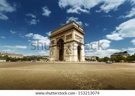 Arc de Triumph, Paris  - stock photo