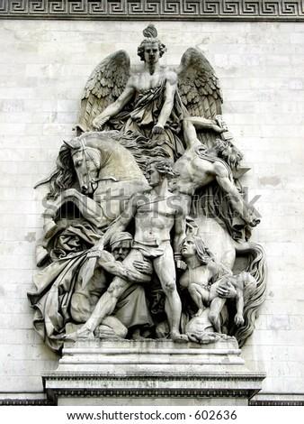 Arc de Triumph, Paris, France - stock photo