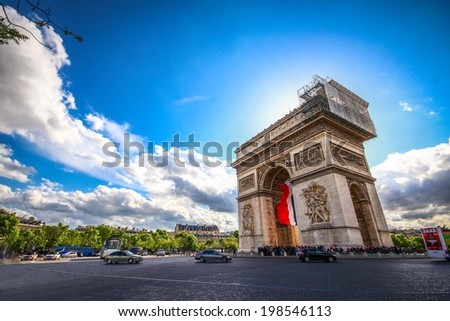 arc de tromphe under blue sky