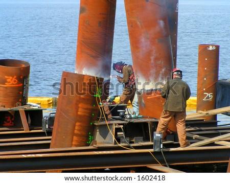 Arc Welders Working - stock photo