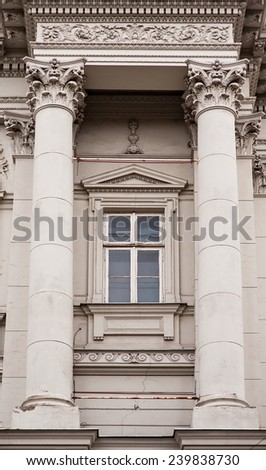 arch architectural columns classic style. - stock photo
